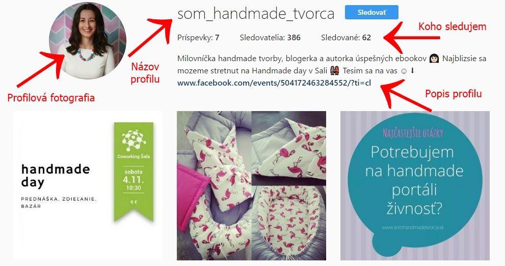 Instagram som handmade tvorca